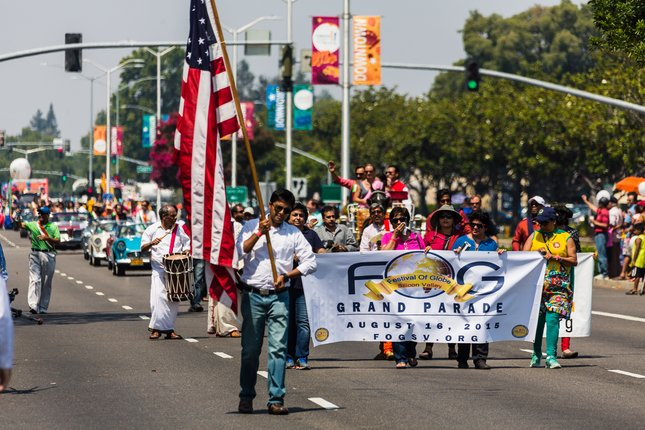 The Festival of Globe Grand Parade streams through Fremont Sunday morning, attracting upward of 150,000 people for it and a fair. For the story, see Page 6. Photo by James Sakane